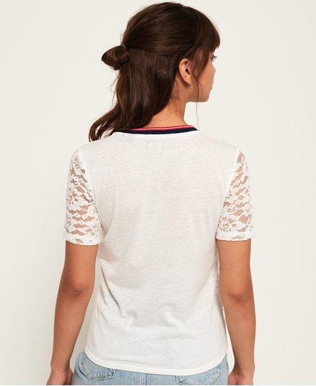 Superdry Elsworth T-Shirt mit Spitze und Grafik