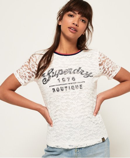 Superdry Elsworth T-shirt med blonde og grafik