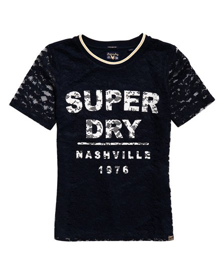 Superdry T-shirt Elsworth Lace Graphic