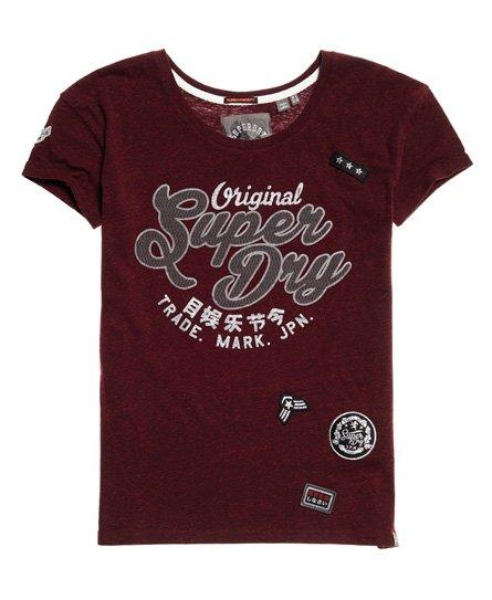 Superdry Faye Script Slim boyfriend T-shirt