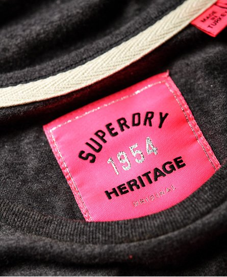 Superdry Airtex T-Shirt in Folienoptik
