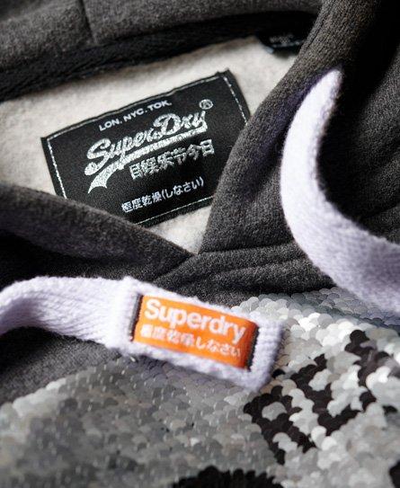 Superdry Premium Hoodie mit Paillettenbesatz
