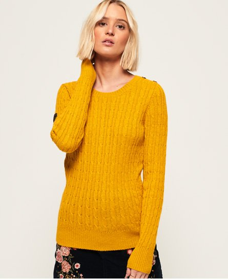 Superdry Croyde Pullover mit Zopfmuster