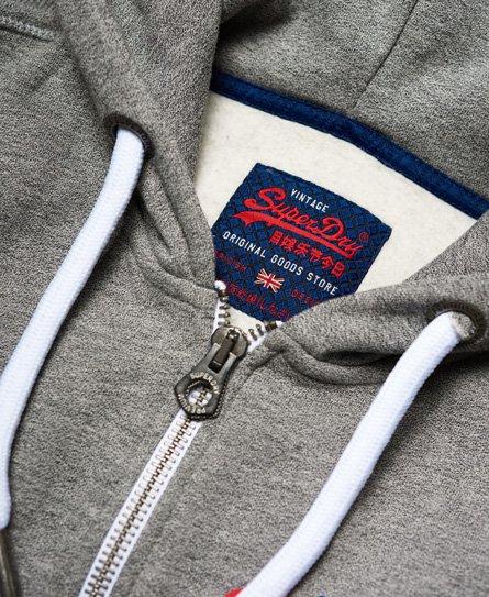Superdry Vintage Authentic Duo Zip Kapuzenjacke Herren Hoodies