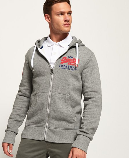 Superdry Sweat à capuche zippé Vintage Authentic Duo
