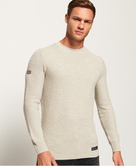 Academy Textured Crew Neck Jumper