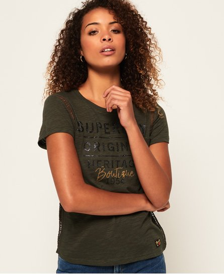 Superdry Sydney Ladder Lace T-Shirt