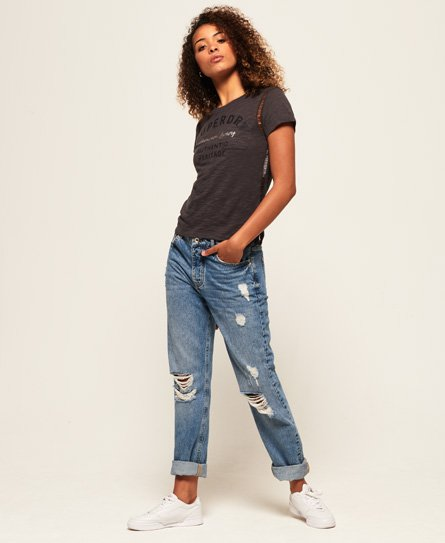 Superdry T-shirt in pizzo Sydney Ladder