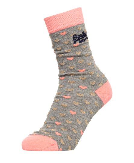 Superdry Gold Heart Socks Triple Pack