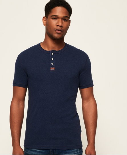 Superdry Heritage Grandad Short Sleeve Top