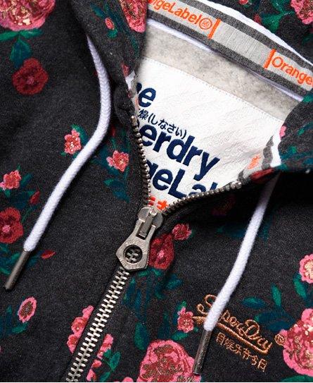 Superdry Orange Label Kapuzenjacke mit durchgehendem Print