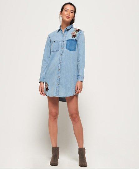 Superdry Robe chemise en denim oversized