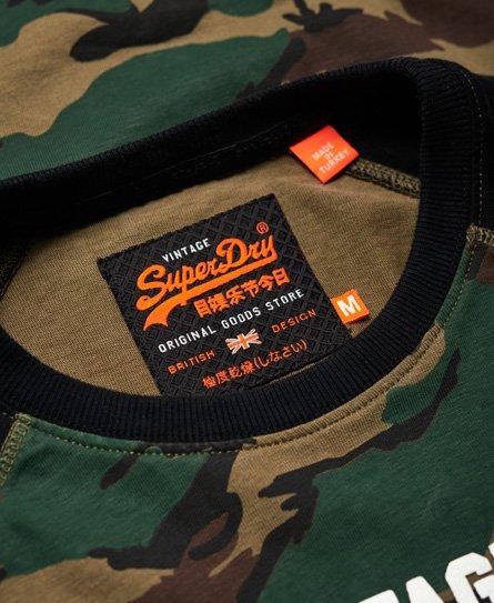 Superdry Camiseta de camuflaje con mangas raglán Shirt Shop