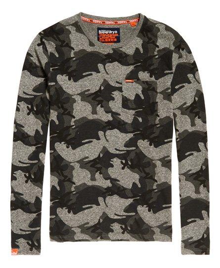 Superdry Orange Label 系列迷彩長袖口袋上衣