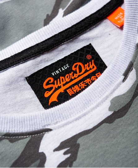 Superdry Worldwide Ticket Type Camo Long Sleeve T-Shirt