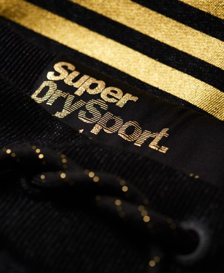 Superdry Pantalon de survêtement Diagonal Black And Gold