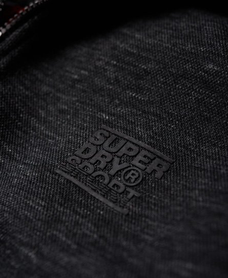 Superdry Gym Tech hættetrøje i piqué med lynlås