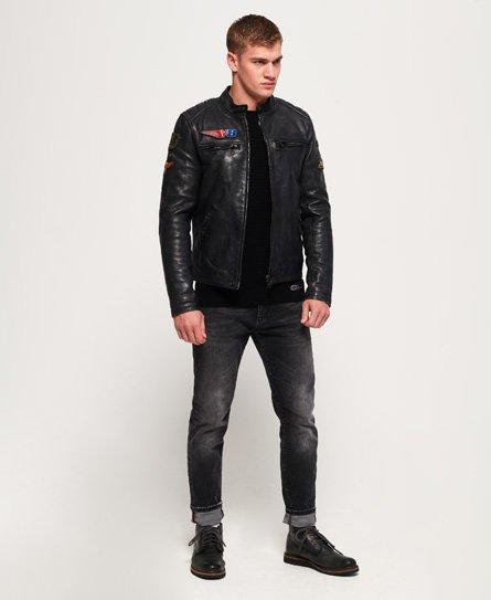 Superdry Endurance Road Trip Leather Jacket