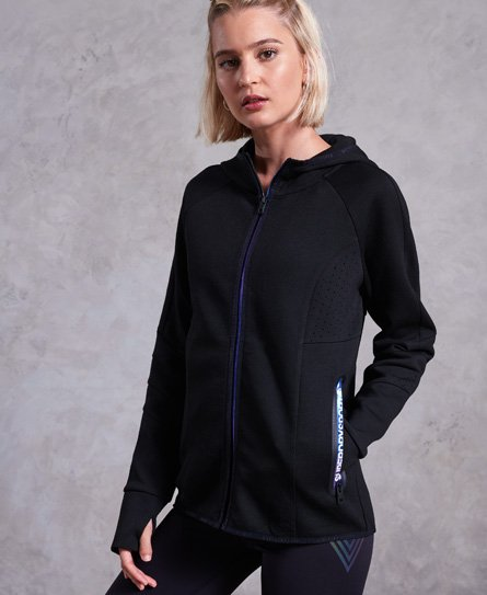 Superdry Core Gym Tech Panel Zip Hoodie
