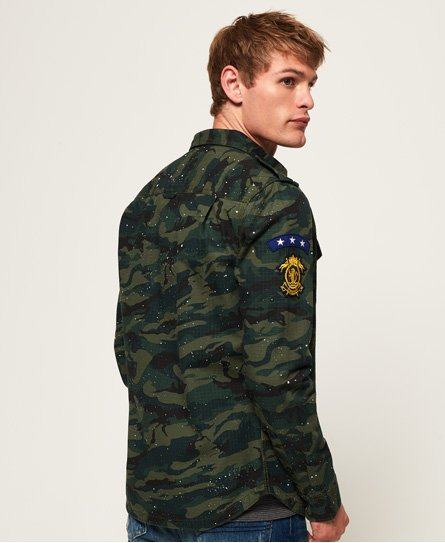 Superdry Army Tropics Long Sleeve Shirt