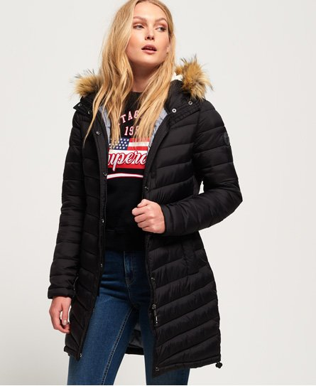 Chevron Faux Fur Super Fuji Jacket