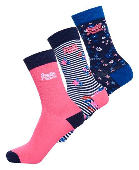 Superdry Bella Ditsy Socks Triple Pack