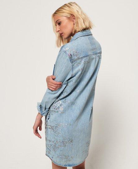 Superdry Jeans-Hemdkleid in Übergröße