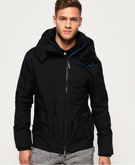 Superdry Giubbotto Technical SD-Windcheater con cappuccio e cerniera a sc