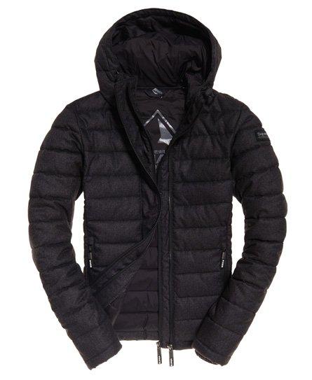 Superdry Fuji Tweed-Jacke mit Kapuze und Doppelreißverschluss