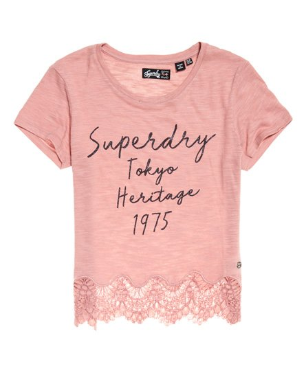 Superdry T-shirt in pizzo Somertrees