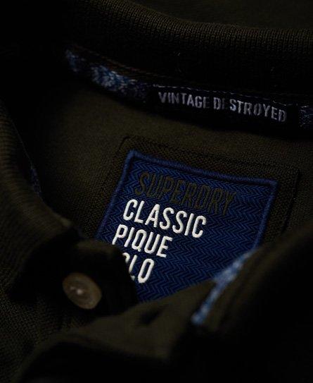 Superdry Vintage Destroy Patch Polo Shirt