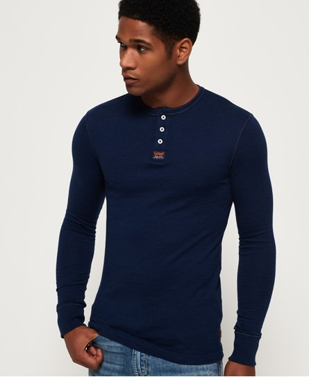 Superdry Heritage Grandad Long Sleeve Top
