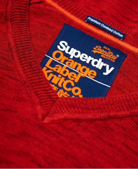 Superdry V-kauluksinen Orange Label -puuvillapusero