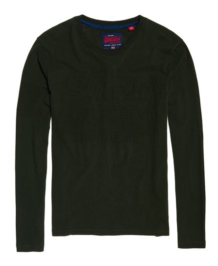 Superdry Vintage Authentic Embossed Long Sleeve T-Shirt
