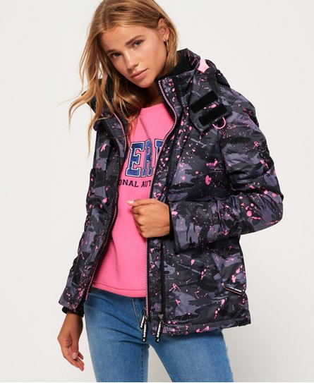Superdry Veste à capuche Arctic Print Pop Zip SD-Windcheater