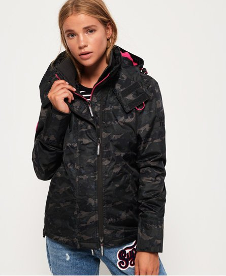 Print Arctic Hooded Pop Zip SD-Windcheater Jacket