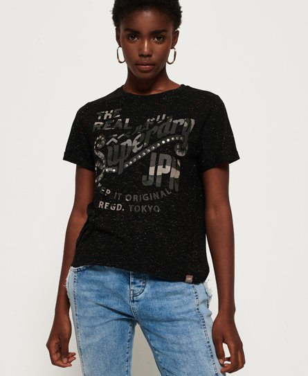 Superdry T-shirt à strass Boxy Keep It