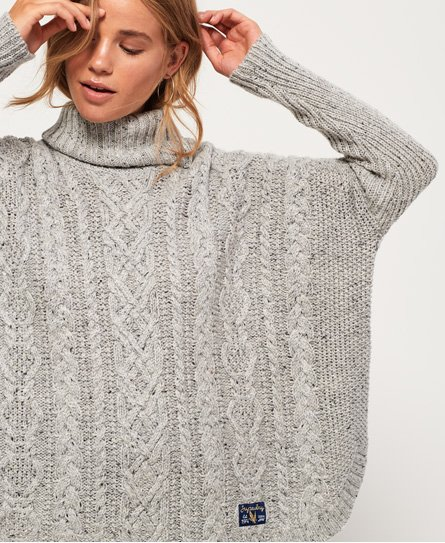 Superdry Pia Nep Cable Cape Sweater