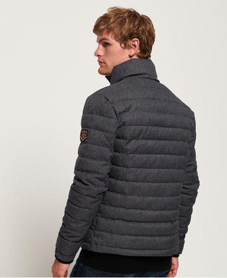 Superdry Tweed Double Zip Fuji -takki