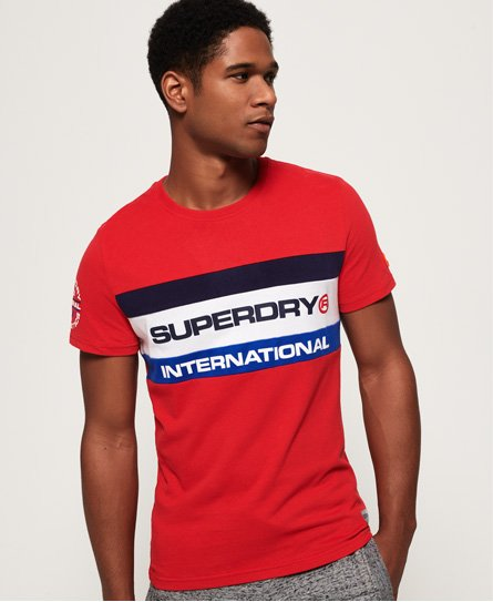 Superdry T-shirt tricolore Trophy
