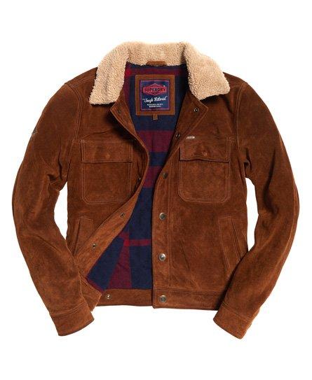 Superdry Merchant Store Suede Trucker Jacket