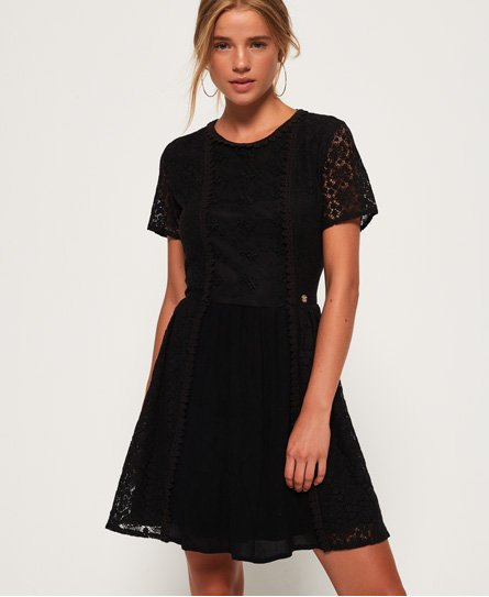 Superdry Ella Lace Panelling Dress