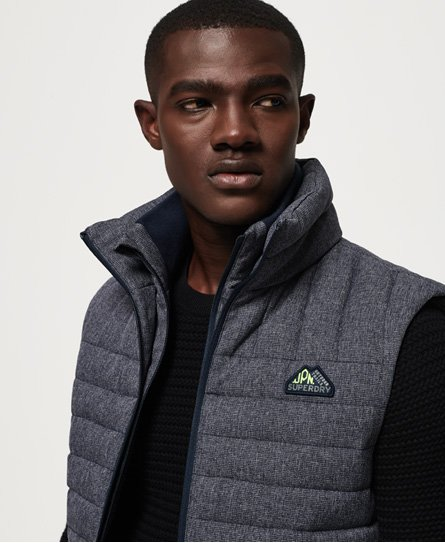 Superdry Double Zip Tweed Fuji Gilet