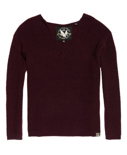 Superdry Peyton Ribbed Vee Jumper