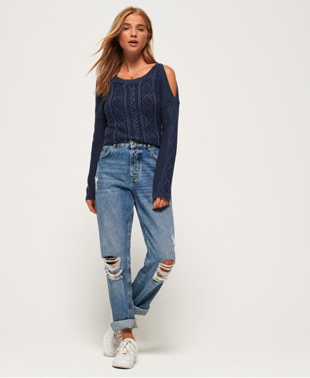 Superdry Acid Wash Cold shoulder-trøje
