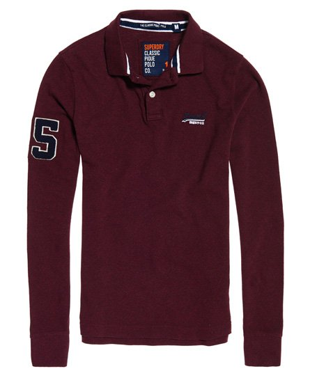 Superdry Classic Pique Long Sleeve Polo Shirt