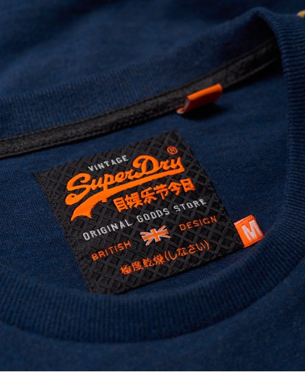 Superdry Vintage Logo Panel Stripe Long Sleeve T-Shirt