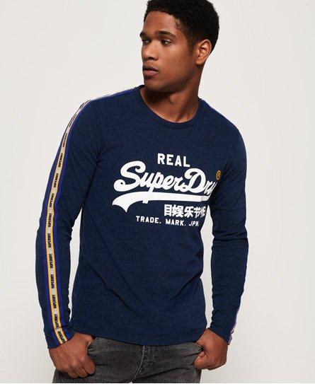 Superdry T-shirt rayé à manches longues avec empiècement et logo Vintage