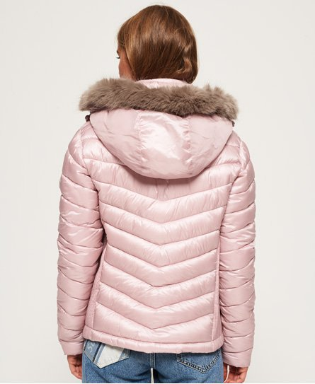 Superdry Hooded Luxe Chevron Fuji Jacket
