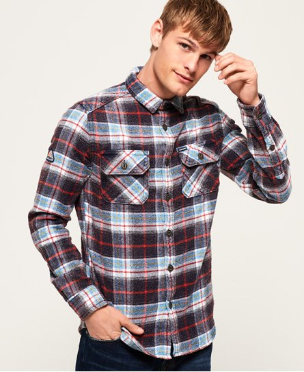 Superdry Merchant Milled Flanellhemd